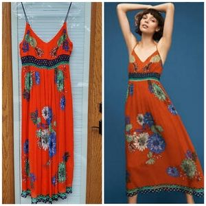 Anthropologie Maeve Ikebana dress SZ 14